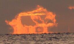 Jūrmalā novērots dīvains saulriets