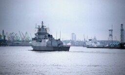 В Клайпедском порту пришвартовалась натовская группа боевых судов
