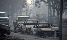 Vējš pastiprina Kalifornijas katastrofālos ugunsgrēkus; vismaz 23 bojāgājušie