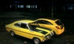 Video: jaunā 'Opel Corsa' pret vecu rallija 'Kadett'