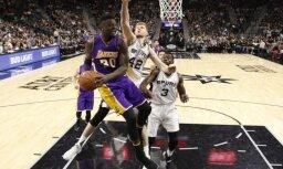 Bertānam pieci punkti 'Spurs' graujošākajā uzvarā sezonā