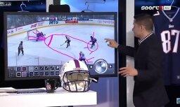 Video: NHL spēles eksperts tiešraidē uz ekrāna uzzīmē peni