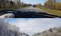 Foto: Vienā dienā sastopas pavasaris un ziema