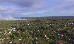Video: Olaines pagastā izcēlies meža ugunsgrēks