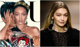 Sašutumu raisa modeles ādas krāsa uz 'Vogue' vāka