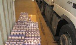 Под видом нитратов в Латвию пытались ввезти более 2 млн. контрабандных сигарет
