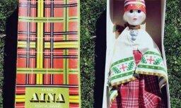 Foto: Zviedrijas mazpilsētā nejauši uziet savulaik ekskluzīvo lelli Ainu