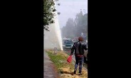 Video: Purvciemā pārbaudes laikā plīst apkures caurule