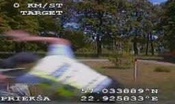Video: Tukumā dzērājšoferis bez tiesībām bēg no policijas