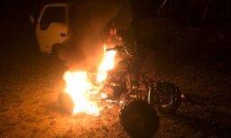 Это моя территория - мужчина сжег квадроцикл, за которым гналась полиция