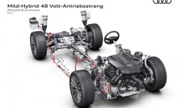 Jaunais 'Audi A8' jau standartā būs ar daļēju hibrīda sistēmu