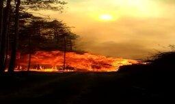 Video: Spēcīgs meža ugunsgrēks Dursupē