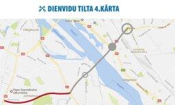 Рижская дума объявила, что в 2018-2019 годах начнет прокладку нового этапа Южного моста