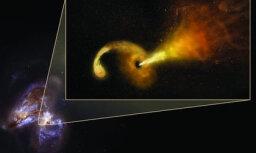 Появилось первое изображение кормящейся черной дыры