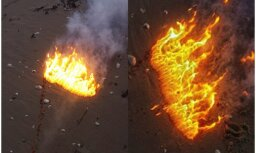 Speciālisti apliecina, ka Jūrmalciemā uzliesmojusī viela varētu būt fosfors
