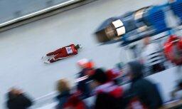 Zirnei teicams otrais brauciens ļauj izcīnīt desmito vietu sezonas pirmajā PK posmā kamaniņu braukšanā