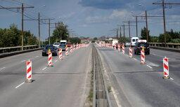 Введены ограничения на Островном мосту в Риге: знаки будут стоять до середины ноября