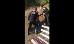ВИДЕО: Полицейские пытаются усмирить пьяного отдыхающего с помощью электрошокера