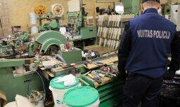 Подпольная табачная фабрика в Бабите связана с пропавшим устройством по выпуску сигарет