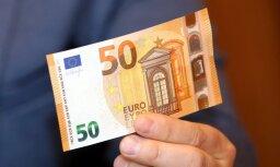 Foto: No nākamās nedēļas apgrozībā parādīsies jaunās sērijas 50 eiro banknotes