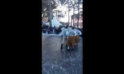 Video: TDA 'Uguntiņa' dejo ekstremālos apstākļos pa ledu