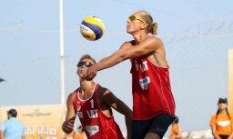 Pludmales volejbolisti Samoilovs un Šmits nodrošina vietu Eiropas U-20 čempionāta astotdaļfinālā
