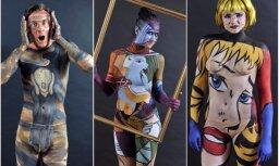 Foto: Londonas ielās iziet kailas 'dzīvās gleznas'