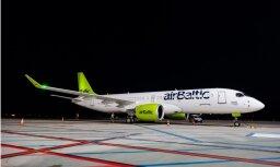 Foto: 'airBaltic' saņem devīto jauno 'Bombardier'