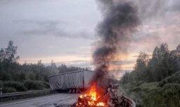 Foto: Traģiska avārija uz autoceļa Rīga-Liepāja