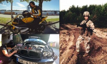 Armija, auto un motocikls: netipiskās dzīves meklētāja Signe Brence
