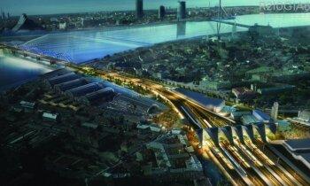 Pārdaugavas iedzīvotāji satraukti par 'Rail Baltica' piedāvātajiem risinājumiem Liepājas ielā
