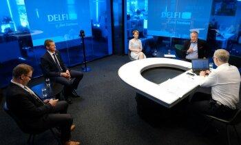 'Delfi TV ar Jāni Domburu' diskusija 'Kas notiek ar Kariņa valdību?'. Pilns ieraksts