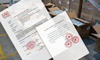 Miljons Singapūras firmai (V): Vai Ķīnas masku testēšanas ziņojums ir viltojums?
