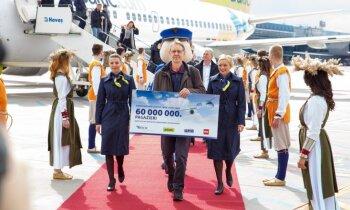 Lidosta 'Rīga' sagaidījusi 60 miljono pasažieri kopš neatkarības atjaunošanas