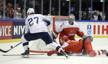 Pasaules hokeja čempionāts: otrās spēļu dienas apskats