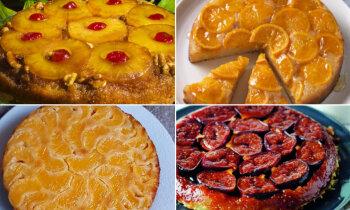 Apgāztās kūkas – pa spēkam pat iesācējiem: 9 receptes saldām brīvdienām bez klapatām