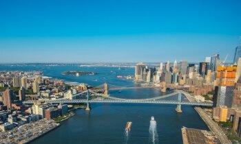 'Delfi' Ņujorkā: fantastiski skati, lidojot helikopterā virs metropoles