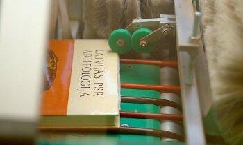 Putekļu mašīna un grāmatu 'kamzolīši' Grāmatu draugu ķēdei