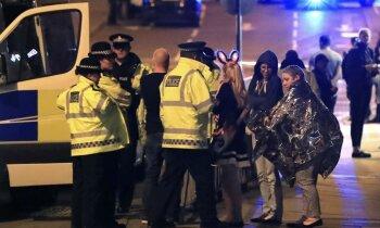 Koncerta laikā Mančestras arēnā Lielbritānijā nograndis sprādziens; 22 bojā gājušie