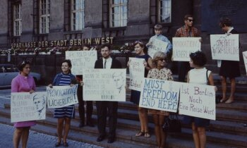 Arhīva foto: Aizliegtais trimdas jaunatnes kongress Berlīnē