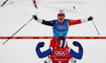 Bjergena kļūst par medaļām bagātāko sportisti ziemas olimpiskajās spēlēs