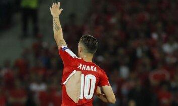 Šveices futbolists Šakiri: ceru, ka 'Puma' neražo prezervatīvus