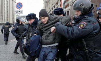 Maskavā aizturēti vairāk nekā 260 protestētāji