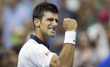 Džokovičs ASV sasniedz 26.'Grand Slam' ceturtdaļfinālu pēc kārtas
