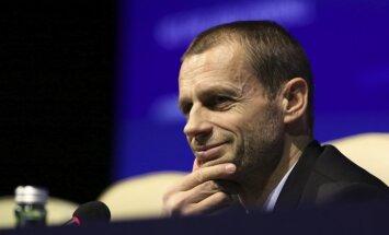 UEFA prezidents Čeferins: futbolam Latvijā nepieciešams lielāks atbalsts