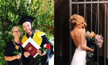 Ziedu klēpji un diplomi – populārie latvieši svin izlaidumus
