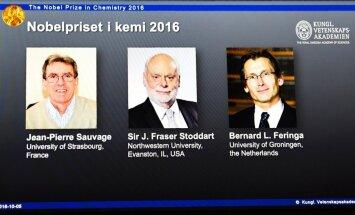 Nobela prēmija ķīmijā piešķirta par molekulāro mašīnu projektēšanu