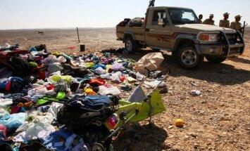 Katastrofa Ēģiptē: britiem aizdomas par lidmašīnas bagāžā ievietotu spridzekli