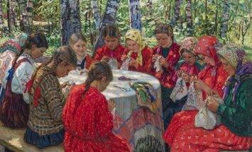 Rīgā aplūkojama ievērojamā krievu gleznotāja Nikolaja Bogdanova-Beļska darbu izstāde