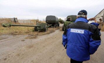 Kaujas Ukrainas austrumos ir pierimušas, pauž EDSO